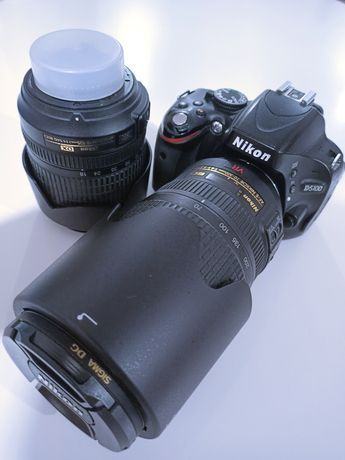Nikon D5100 + Nikkor 18-105 ED DX + 70-300 vr