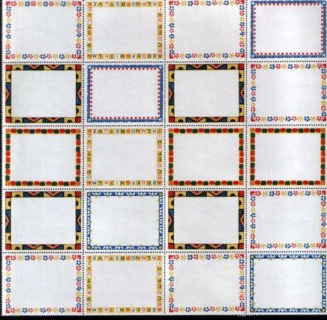 etichete şcolare cu chenar decorativ - vintage (36b.)