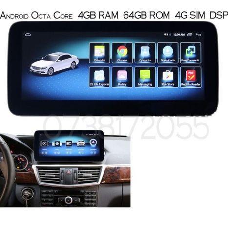 Navigatie Mercedes Benz E Class W212 BT Internet 4G GPS Android