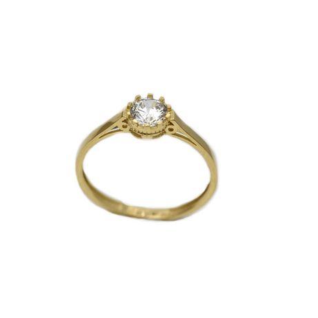 Inel aur galben logodna cu zirconiu - DA305