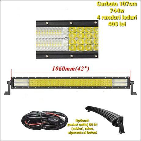 LED Bar 5D 12/24V 60/45cm576w/87cm864w Off Road Jeep SUV Camion Utilaj