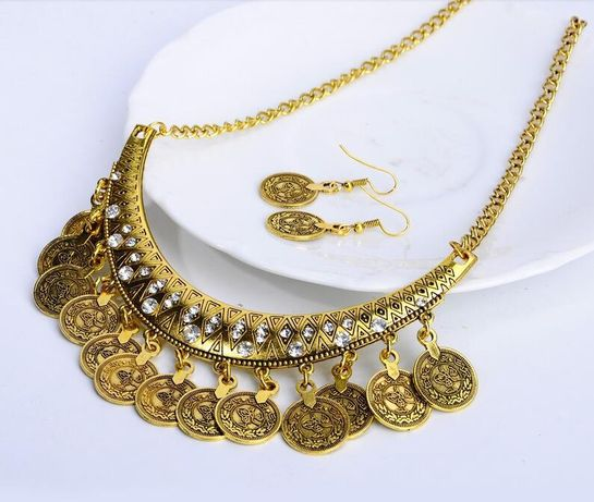 Накити с пендари: етно колиета, обеци, гривни, диадеми - златни и среб