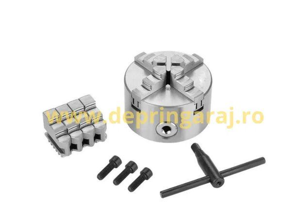 Universal pentru strung 125mm cu 4 BACURI sau alte marimi si bacuri