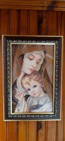 Продавам гоблен Мадона с младенеца