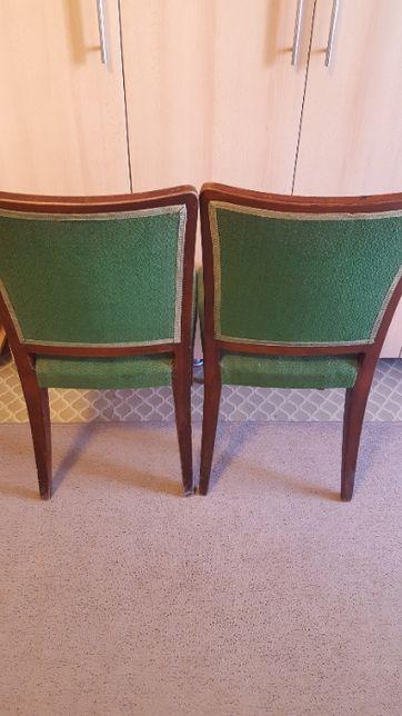 Scaun solid din lemn masiv tapițat cu stofa rezistenta stil vintage