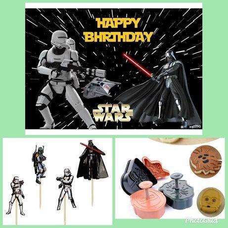 Украса за StarWars рожден ден, постера е 150/200