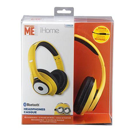 Căști fără fir Bluetooth Despicable Me Minions cu activare vocală micr