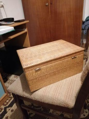 Cutie lemn depozitare