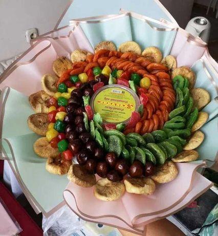 Кептирилген жемисттер татти букет вкусные букеты букеты из сухофруктов