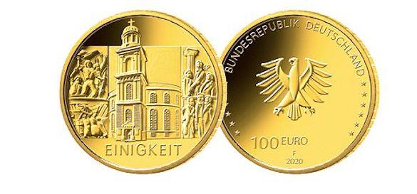 Moneda aur Germania 2020 Einigkeit ( Unitate ) 24 karate, 15,55 gr., A