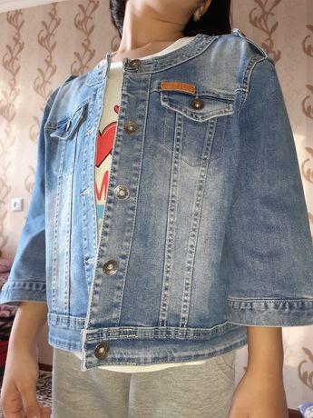 Пиджаг джинсовая размер 46