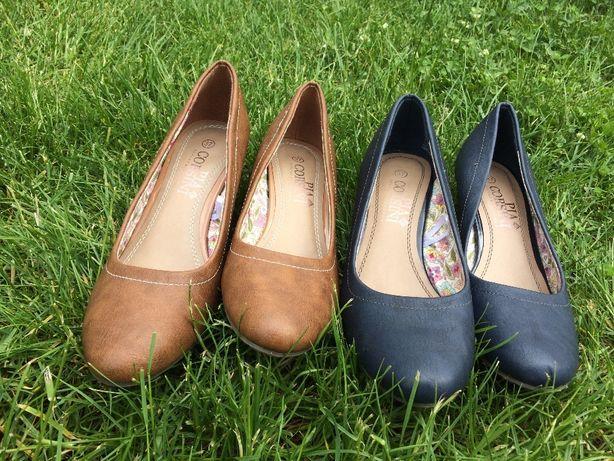 Pantofi damă albaștri sau maro