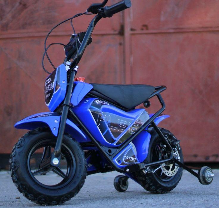Motocicleta electrica pentru copii NITRO ECO Flee 250W #Blue Focsani - imagine 1