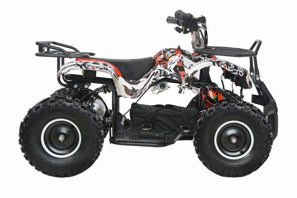 Mini ATV electric pentru copii NITRO Torino Quad 800W 36V #Alb