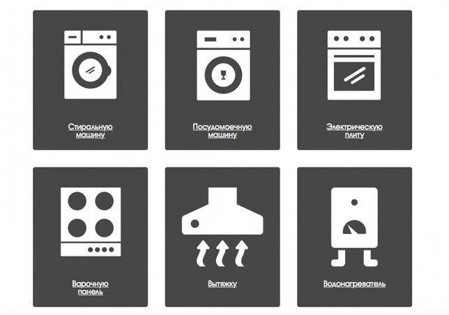 Ремонт и установка электро-газовых плит стиральных посудомоечных машин