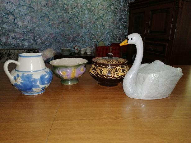 Керамические вазочки для кухни, керамика советская