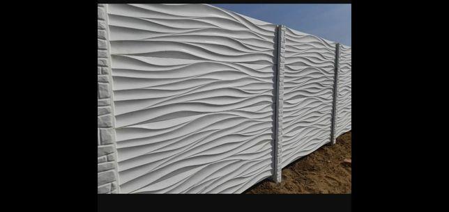 Gard din placi de beton