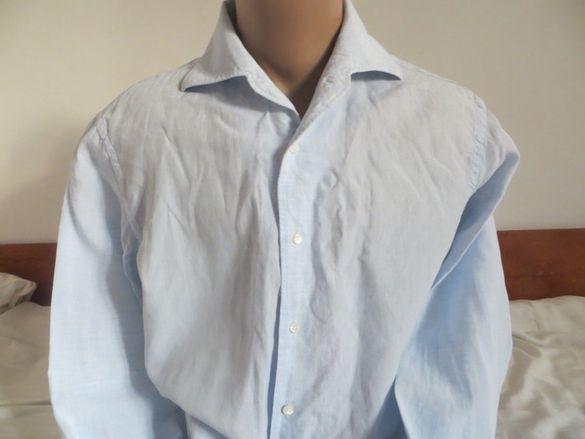 Мъжки ленени ризи с дълъг ръкав Corneliani, Zara, Gant, Benetton