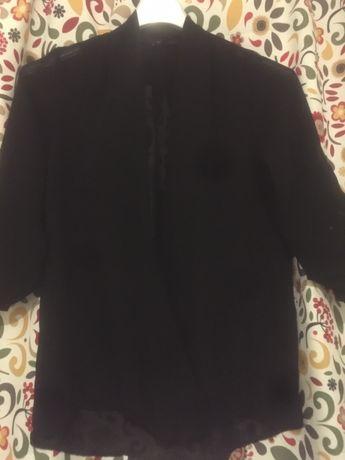 Bluza neagra transparenta cu decolteu