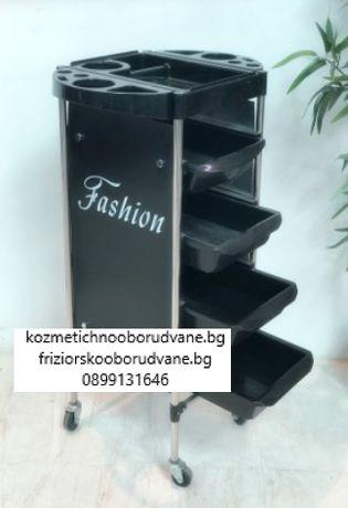 Фризьорска количка Fashion 31 x 37 x 88 см - черна
