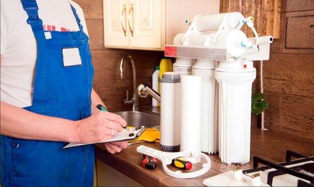 Ремонт, замена, и продажа качественных фильтров для воды.