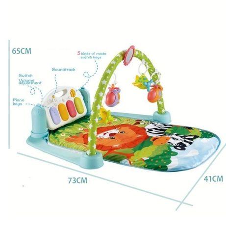 Saltea de joaca muzicala centru de activitati bebelusi copii Piano Gym