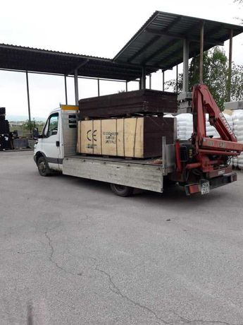 Транспортни услуги с камион до 2,5т. оборудван с кран и бус до 1,5т