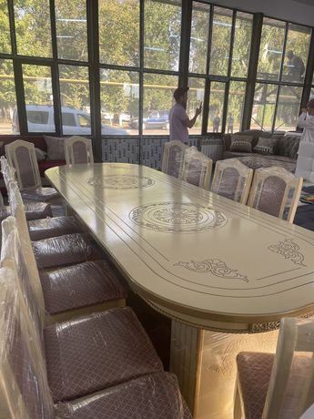 Стол стулья , таза ағаштан жасалған Сіздің үйіңізге ынғайлы  бірнеше р