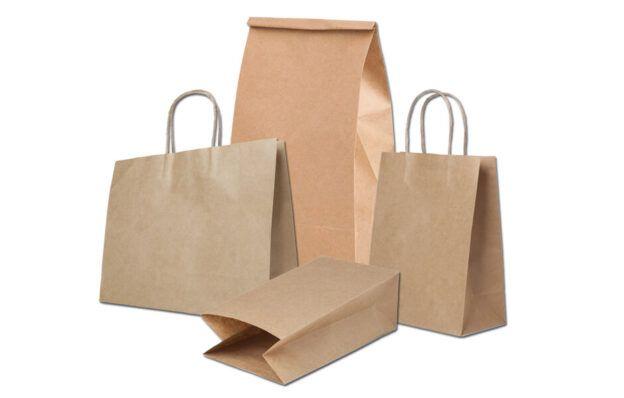 Крафт пакеты, бумажные пакеты с ручками