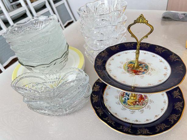 Стеклянные салатницы