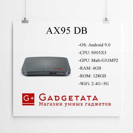 AX95 DB 4/128 S905X3 андроид смарт тв бокс приставка твбокс tv box