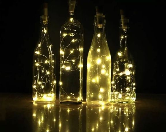Светеща тапа за бутилки / Украса/ Коледа