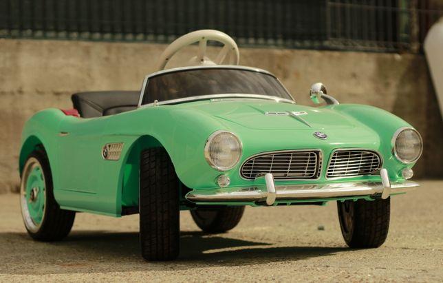 Masinuta electrica pentru copii BMW 507 Oldtimer, Scaun tapitat #Verde