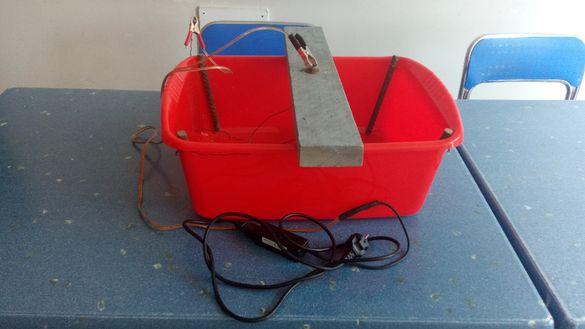 Електролитна вана за премахване на ръжда