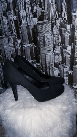 Pantofi negri catifea Graceland