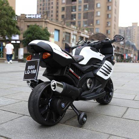 Motocicleta Electrica pentru copii LQ168 BIG alba , 12 volti ,factura