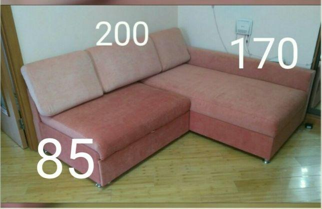 Качественный диван Раскладной угловой Новая обивка