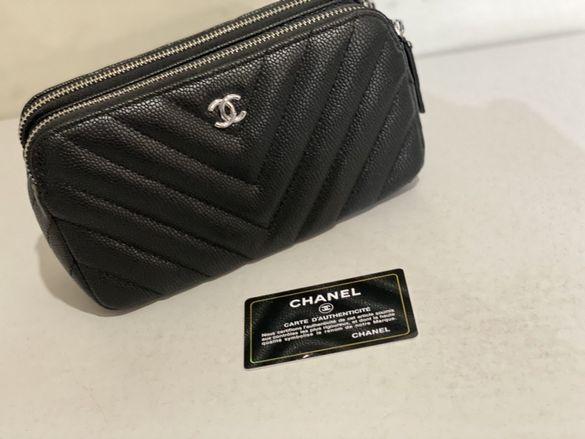 Дамска чанта естествена кожа Chanel