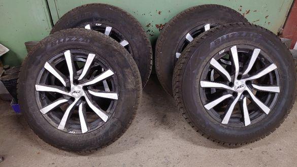 Продавам джанти AEZ в комплект със зимни гуми Bridgestone 235/65R18