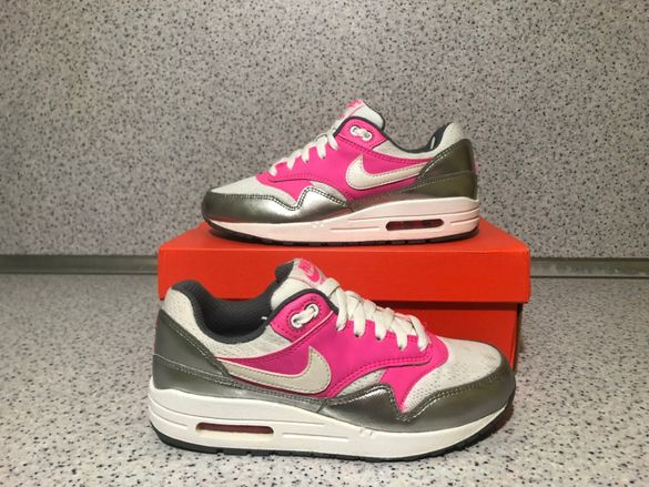 ОРИГИНАЛНИ *** Nike Air Max 1 / White / Pink Pow