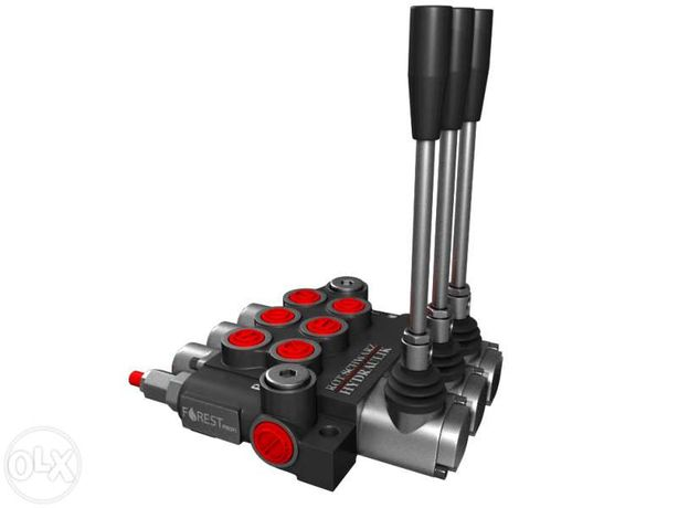 "Distribuitor hidraulic monobloc 3 sectiuni 40 l/min 1/2"""