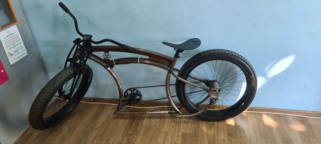 Bicicleta chopper ruff cycle custom originala in totalitate unicat