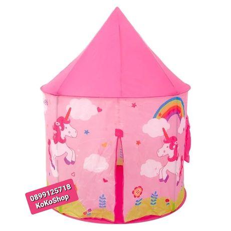 Детска къщичка/детска палатка с еднорози-100x100x135 см.