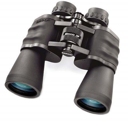 Binoclu Tasco 20x50, husa cu snur, capace protectie oculare, laveta