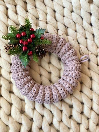 Плетен Коледен венец