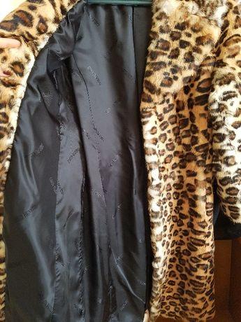 Blana naturala print leopard