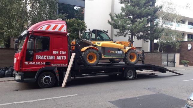 Tractari auto moto dube xxl transport stivuitor tractor nacela generat