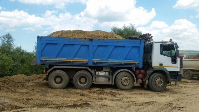 Nisip, sorturi concasate, balast, Pufar, pământ negru vegetal