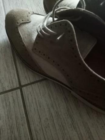 Pantofi piele întoarsă 43 mango