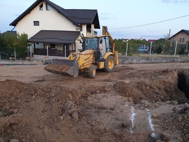 Închiriere buldoexcavator ,cilindru compactor,Excavator